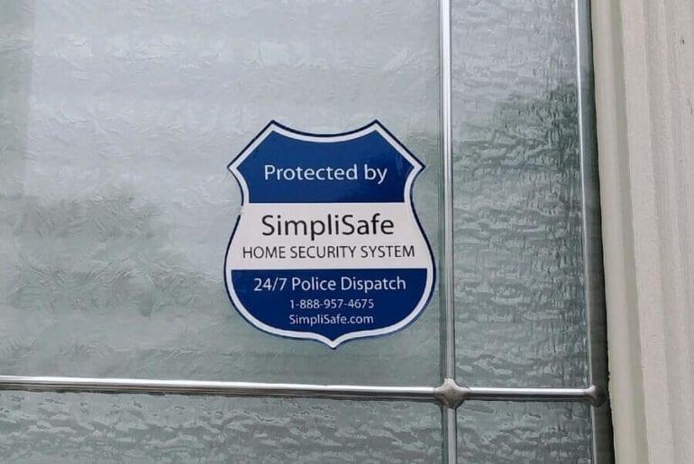 Security Sticker in Window