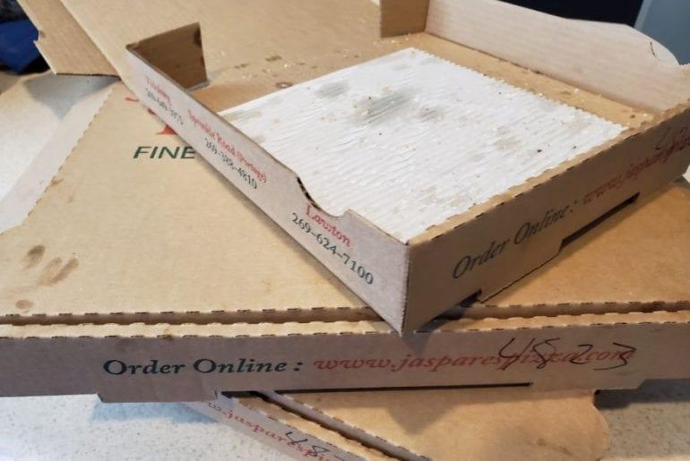 Empty Pizza Boxes