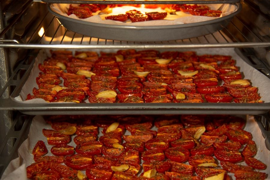 Tomatoes with Oil in Oven