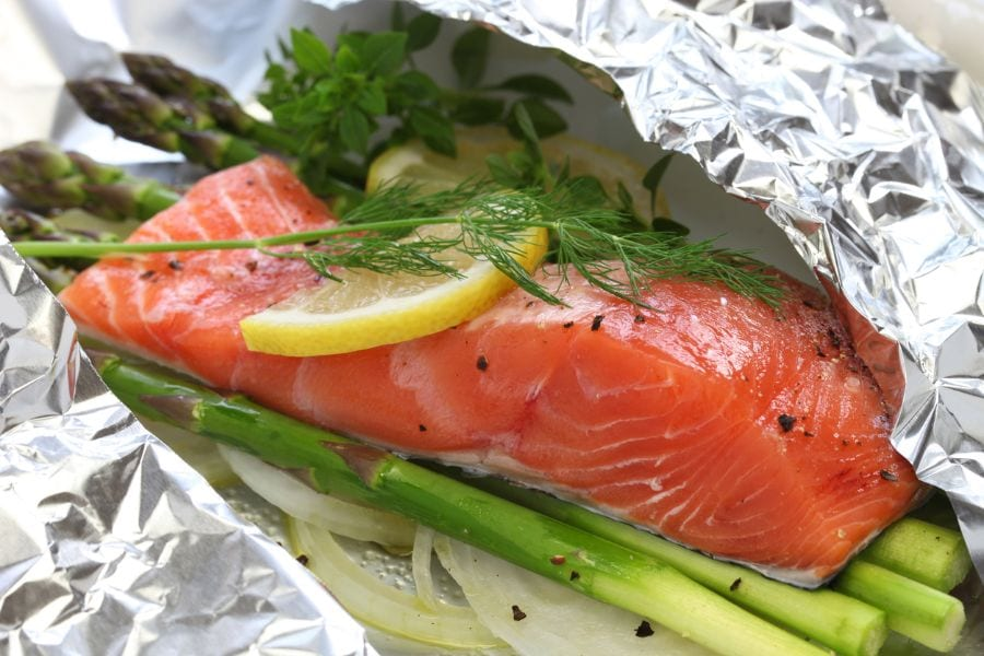 Salmon in Foil Pouch Ready to Cook