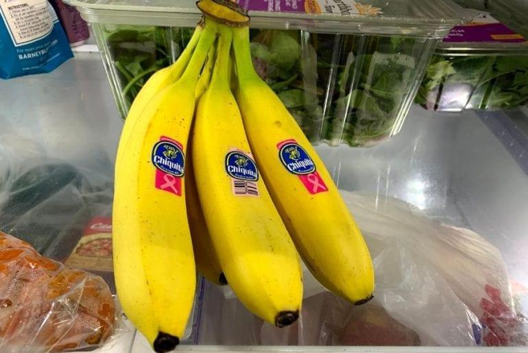 Bananas in Fridge