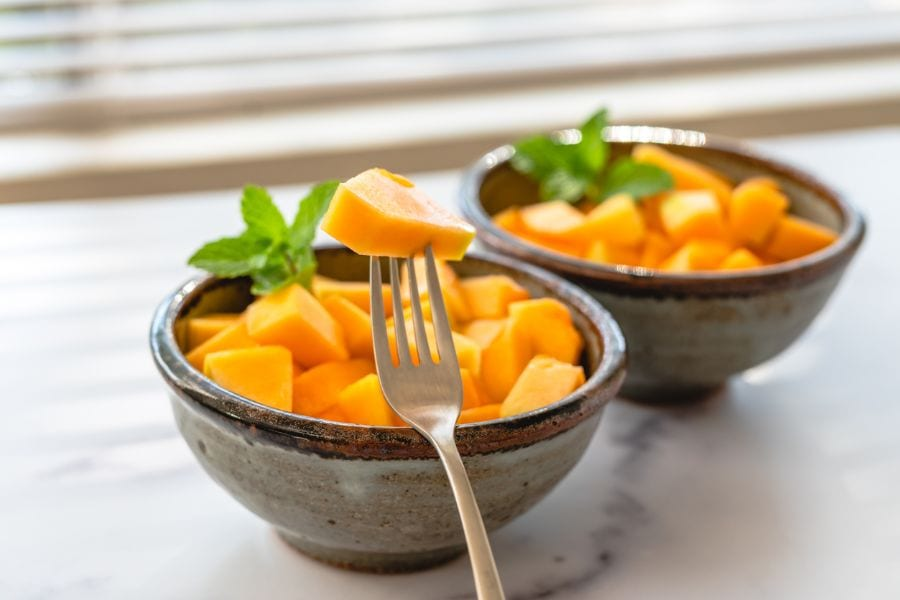 Ripe Cut Cantaloupe in Bowls