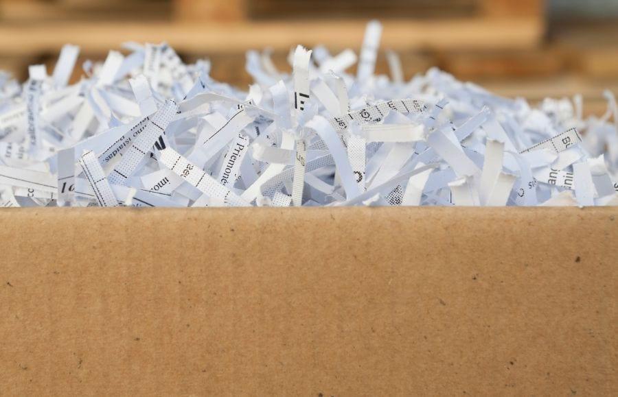 Box of Shredded Paper