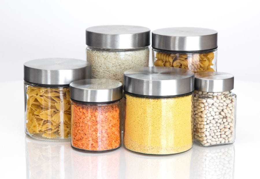 Food Stored in Glass Containers