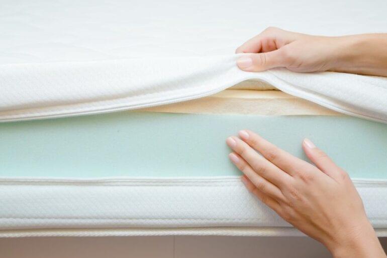Inspecting Layers of Foam Mattress