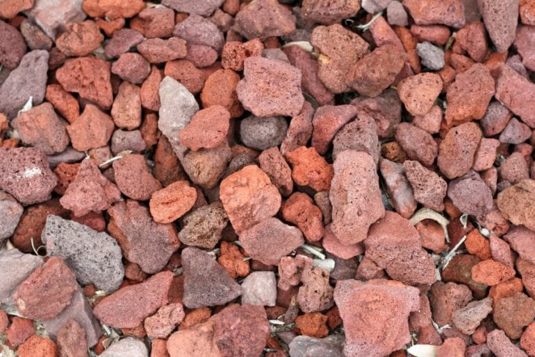 Red Lava Rock Ground Cover