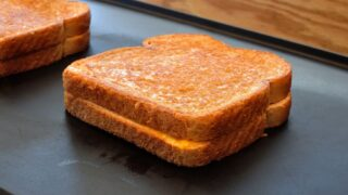 Grilled Cheese Sandwiches on a Hotplate